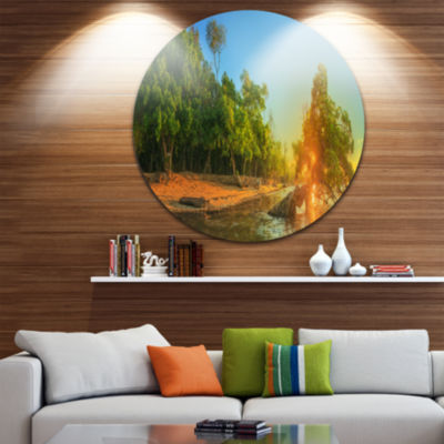 Designart Beautiful Thailand Tropical Beach Oversized Landscape Wall Art Print