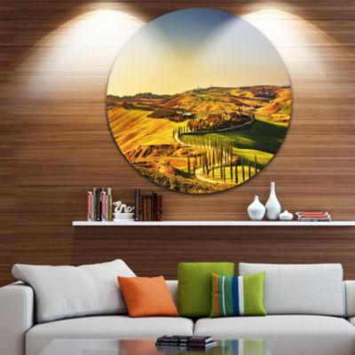 Designart Crete Senesi Rural Landscape Tuscany Oversized Landscape Wall Art Print