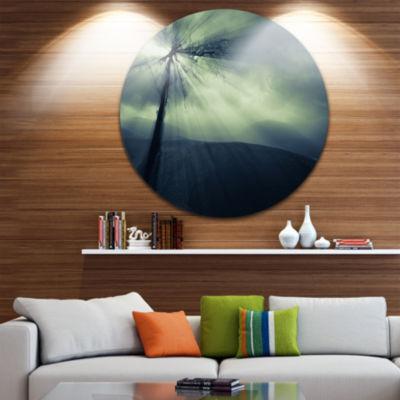 Design Art Dead Tree in the Mysterious Land Seascape Metal Artwork