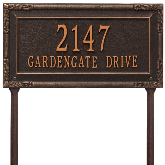 Whitehall Personalized Gardengate Grande Lawn Address Plaque - 2 Line