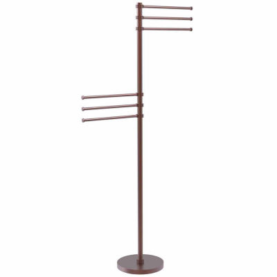 Allied Brass Towel Stand with 6 Pivoting 12 Inch Arms
