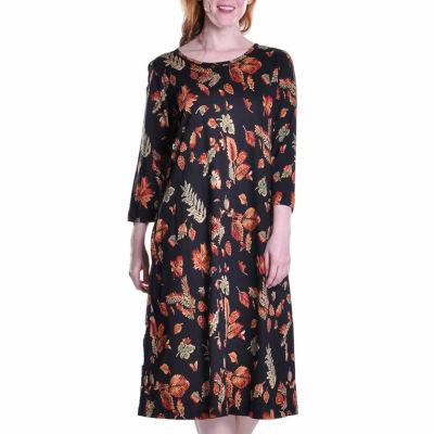 La Cera Cotton Knit A Line Dress
