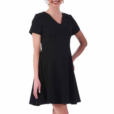 LaMonir Short Panel V-Neck Dress