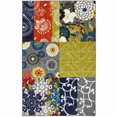 Mohawk Home New Wave Secret Garden Patch Printed Rectangular Rugs