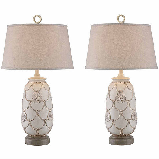 Seahaven Sand Dollar Table Lamp Set