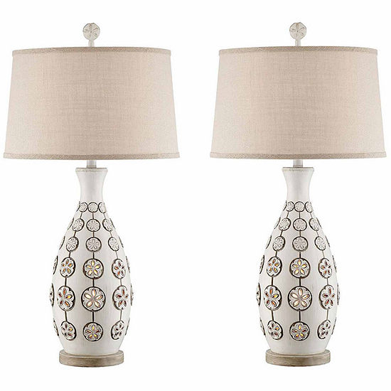 Seahaven Sandollar Table Lamp Set