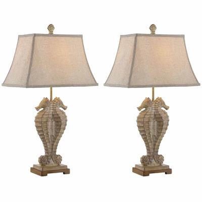 Seahaven Seahorses Table Lamp Set