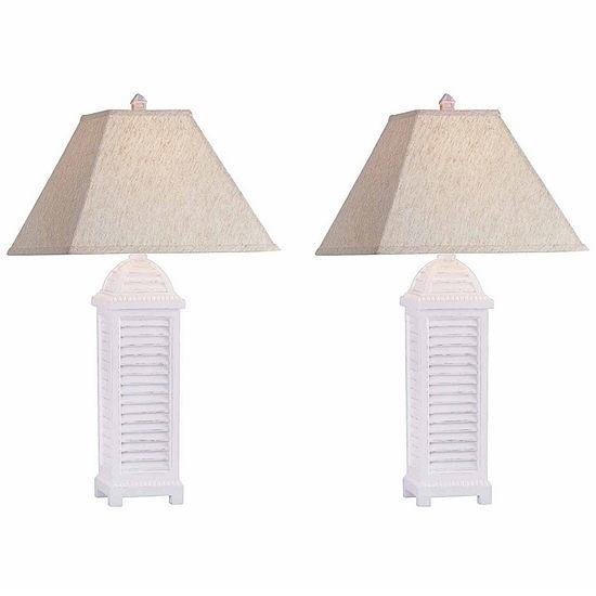 Seahaven Shutter Table Lamp Set