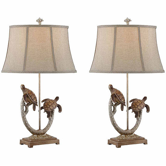 Seahaven Turtle Table Lamp Set