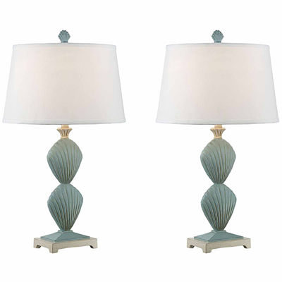 Seahaven Clam Shell Table Lamp Set