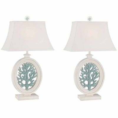 Seahaven Coral Table Lamp Set
