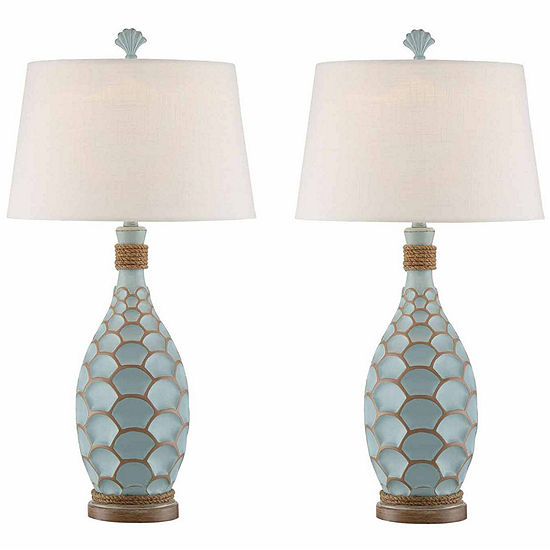 Seahaven Eden Isle Rope Table Lamp Set