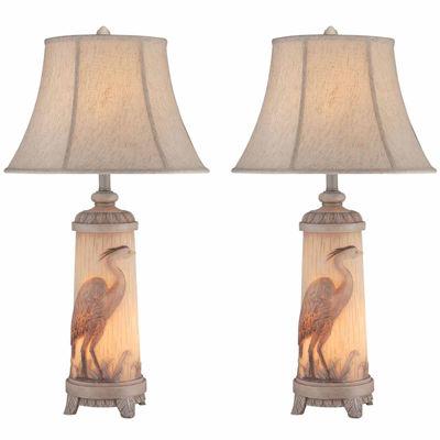 Seahaven Heron Table Lamp Set