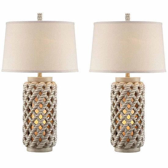 Seahaven Lantern Table Lamp Set