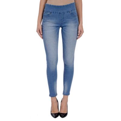 Lola Jeans Julia Mid-Rise Pull On Ankle