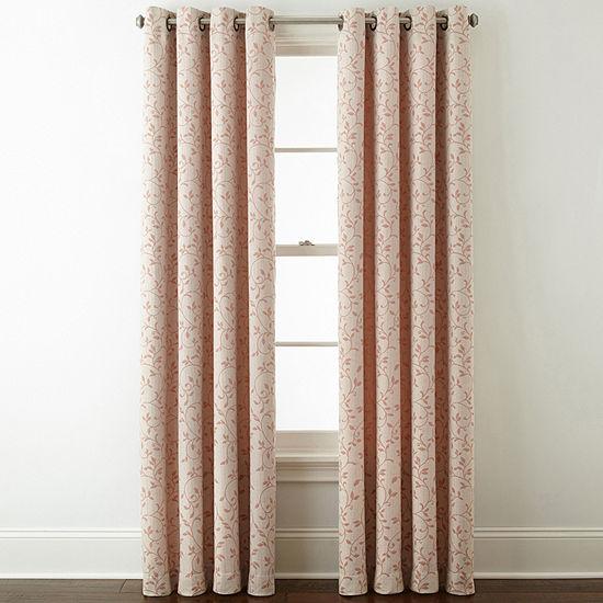 Liz Claiborne Anza Grommet-Top Curtain Panel