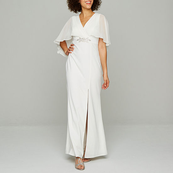 Blu Sage Sleeveless Embellished Cape Bridal Gown