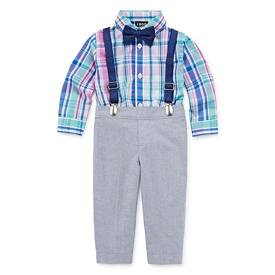 Izod 4 Pc Suit Set Baby Boys