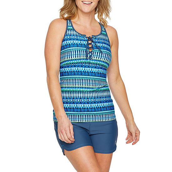 Free Country Stripe Tankini Swimsuit Top or Swimsuit Bottom