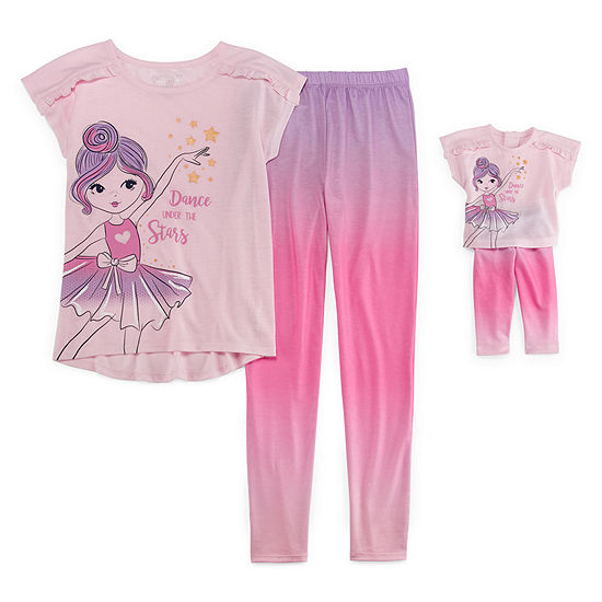 2 Pc Pant Pajama Set Preschool Girls
