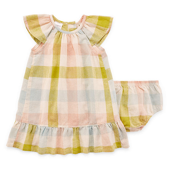 Peyton & Parker Short Sleeve Cap Sleeve Babydoll Dress - Baby Girls