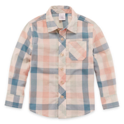 Peyton & Parker Boys Long Sleeve Button-Front Shirt Toddler
