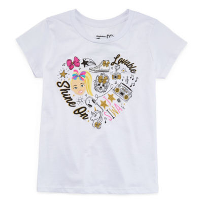 Jojo Siwa Girls Round Neck Short Sleeve Graphic T-Shirt Preschool / Big Kid