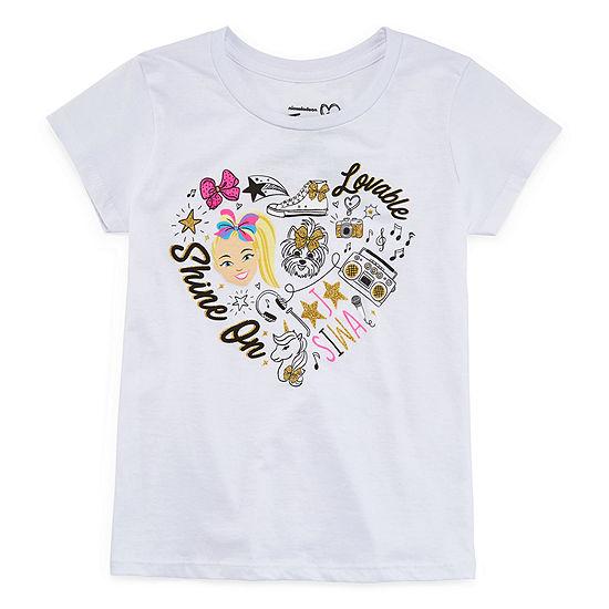 Jojo Siwa Girls Round Neck Short Sleeve Graphic T-Shirt - Preschool / Big Kid