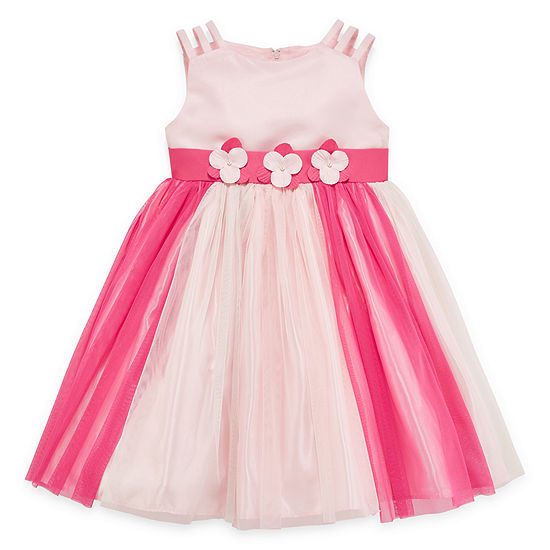 Princess Faith Girls Embellished Sleeveless Party Dress - Preschool