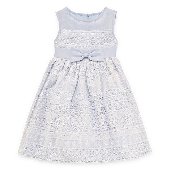 Princess Faith Embellished Sleeveless Party Dress Preschool Girls