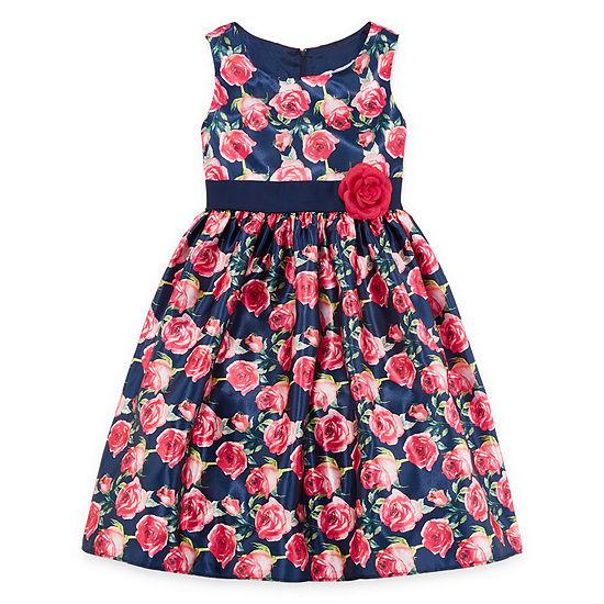 Princess Faith Embellished Sleeveless Party Dress Girls