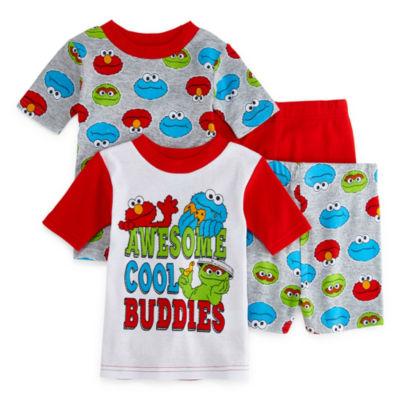 Sesame Elmo 4-pc.Street Pajama Set Toddler Boys