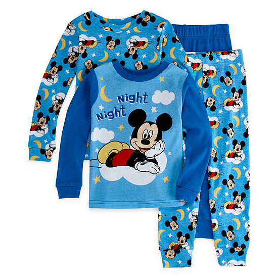 Disney Collection Boys 4-pc. Mickey Mouse Pajama Set Toddler