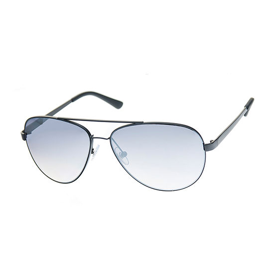 JF J.Ferrar® Aviator Sunglasses with Silver Flash Mirrored Lens
