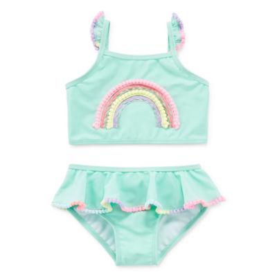 Okie Dokie Girls Tankini Set - Toddler