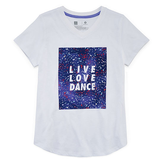 Xersion Short Sleeve Graphic T-Shirt - Girls' 4-16 & Plus