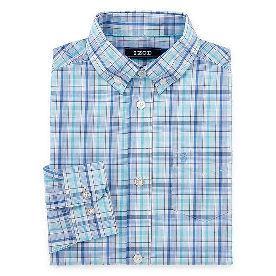 IZOD Boys Point Collar Long Sleeve Dress Shirt Preschool / Big Kid