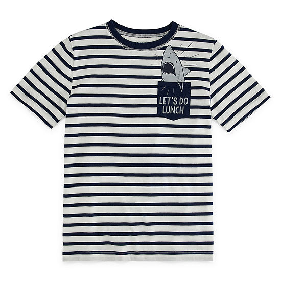 Arizona Little & Big Boys Short Sleeve T-Shirt