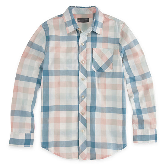 Peyton & Parker Boys Long Sleeve Button-Front Shirt Preschool / Big Kid