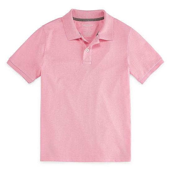 Arizona Boys Point Collar Short Sleeve Polo Shirt
