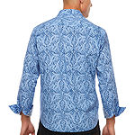 Society of Threads Slim Fit Abstract Paisley Print Comfort Stretch Long Sleeve Shirt