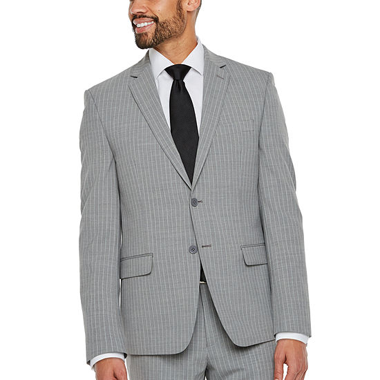 Collection by Michael Strahan  Striped Classic Fit Stretch Suit Jacket