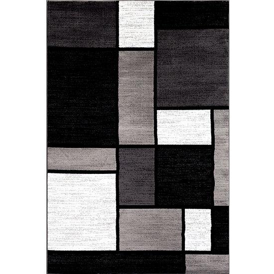 World Rug Gallery Contemporary Modern Boxes Rectangular, Round & Runner Rugs