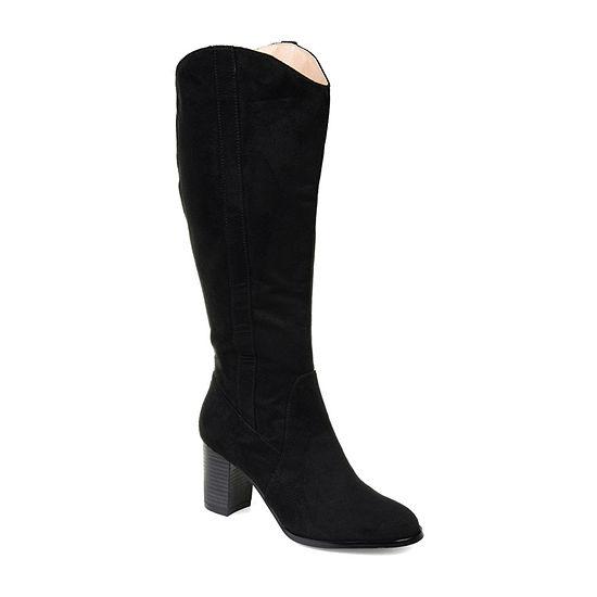 Journee Collection Womens Parrish Dress Stacked Heel Zip Boots