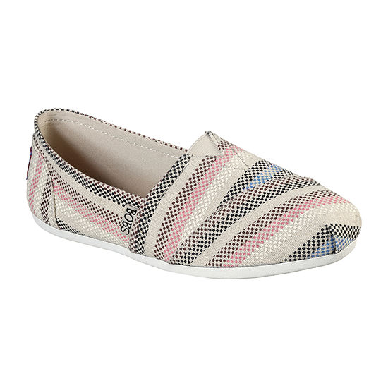 Skechers Bobs Womens Plush Marigold Bloom Closed Toe Slip-On Shoe