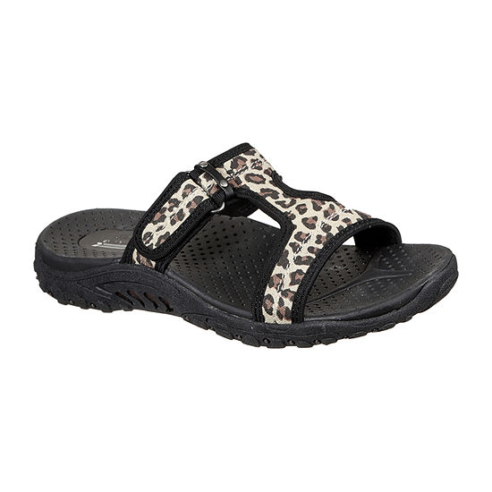 Skechers Reggae - Panthera Womens Adjustable Strap Footbed Sandals