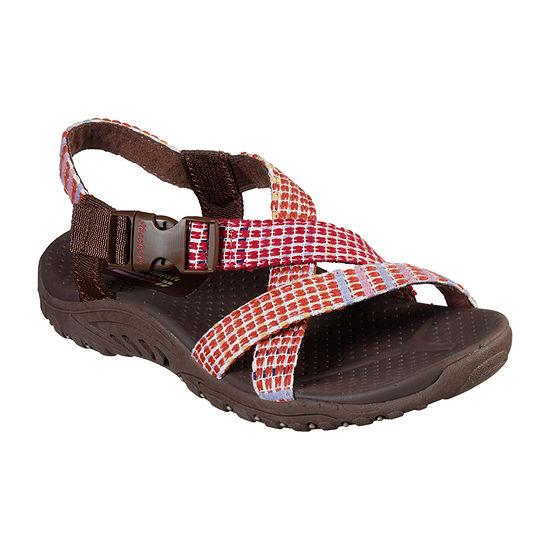 Skechers Reggae - Sew What Womens Adjustable Strap Footbed Sandals