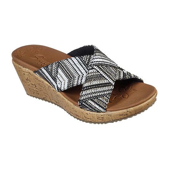 Skechers Womens Beverlee - Golden Palace Wedge Sandals