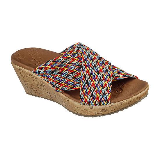 Skechers Womens Beverlee - Vacation Mode Wedge Sandals