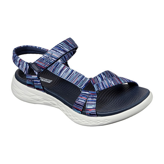 Skechers On-The-Go 600 Electric Womens Ankle Strap Footbed Sandals